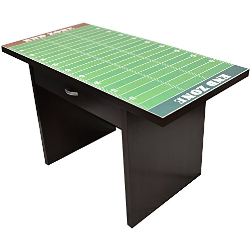 Little Partners Kids Football Fan Desk – Activity Play Table with Sports-Themed Graphics for Playroom, Daycare, Preschool | Durable Wood Construction with Drawer