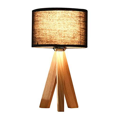 LPsweet Lámparas de Mesa para Dormitorio, mesita de Noche, LED, iluminación Decorativa E27, Luces nocturnas, luz de Escritorio con Pantalla de Tela Moderna para el Estudio de la Sala de Estar,B
