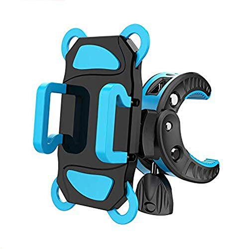 自転車 スマホ ホルダー 自転車 バイク用スタンド 携帯ホルダー マウントキット フレーム クリップ式ホルダー シリコンバンド GPSナビ 360度回転 二重保護 脱落防止 多機種対応