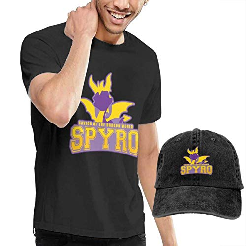 LYZBB Top e Bluse, Camicie e T-Shirt Sportive, Sp-yro The Dragon T-Shirt Hip Hop Short-Sleeved Round Neck Men's T-Shirt And Hat Set
