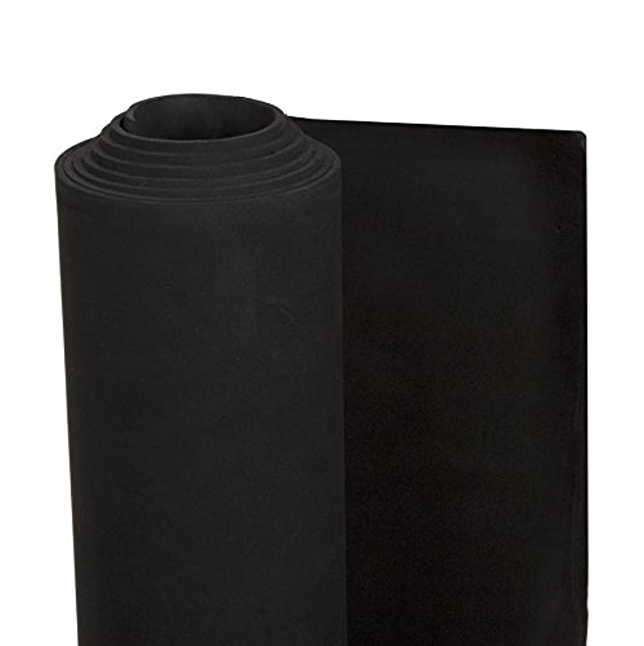 Darice 2mm Foamie Roll, 36-Inch by 60-Inch, Black