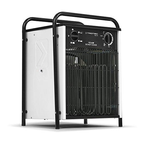 TROTEC Elektroheizer TDS 75 mit 15 kW, 3 Heizstufen, Thermostat, Ventilatorfunktion Heizlüfter Heizgerät Bauheizer