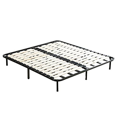 Somier Marco de Cama de Metal Doble, Marco de Cama Plegable Duradero para dormitorios, Habitaciones, Fácil de Instalar/Antideslizante(Size:180x200cm)