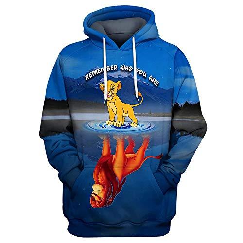 luozeshu König der Löwen Hoodie Sweater König der Löwen Movie Surrounding 3D Print Pullover Casual Hoodie Sweatshirt Herren Tops Bekleidung