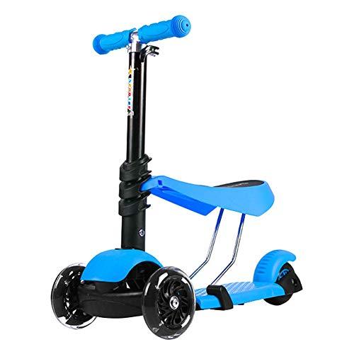 ETTBC Scooters Child 3 Rounds Can Sit Swing Car Twist Car Kick (Color: Azul)