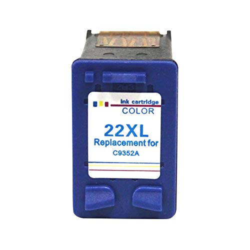 CMDZSW 21 22 XL Cartucho de Tinta para HP 21 22 HP22 para HP DeskJet F2280 F2180 F4180 F300 F380 F2100 F2200 Impresora (Color : 22 Color)