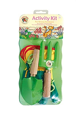 Tierra Garden 7-LP472 Little Pals Kids Paint Your Own Funky Raincoat, Pink and Green, One Size, 3-5 Years