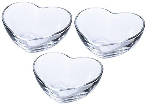 アデリア ガラス 小鉢 クリア 最大12×10.7×高4.8cm ハート&ハート ボウル S 3個セット 日本製 P-6338