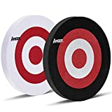 Aimdor Archery 2 PCS EVA Foam Archery Target Round Moving Arrow Target Face 25cm for Archery Hunting Practice Target Game Competition Target Pet Frisbee Pet Toys