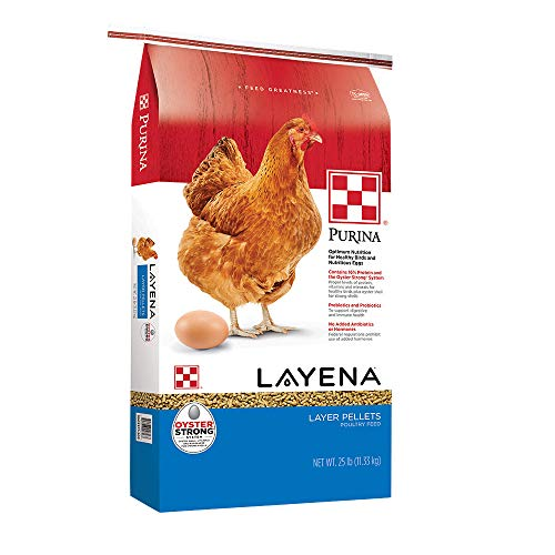 Purina Layena | Nutritionally Complete Layer Hen Feed Pellets | 25 Pound (25 lb) Bag