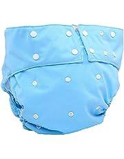 布おむつカバー-大人用布おむつおむつ再利用可能洗える、調節可能な通気性漏れ防止布おむつ、 障害失禁の場合男性女性