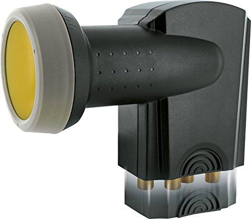 SCHWAIGER -401- Quattro LNB mit Sun Protect, digital, für Multischalter, extrem hitzebeständige LNB Kappe, Einsatz mit Satellitenschüssel, multifeed-tauglich mit Wetterschutz und vergoldeten Kontakten