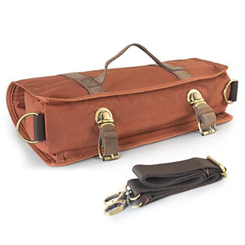 Bartender Bag - Bolsa de viaje profesional con correa para el hombro para un fácil transporte, portátil barware Set Roll Bag (solo bolsa)
