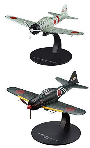 OPO 10 - Juego de 2 Aviones de Combate Mitsubishi Zero (A6M5 + A6M2b) 1/72 (AC2 + AC11)