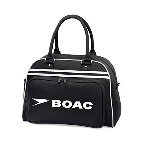 Retro Styling BOAC Flight Shoulder Overnight Bag. Hand-held or over shoulder.