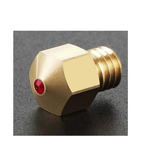 L-Yune,bolt 1pc 3D Printer Parts 0.4mm 1.75mm MK8 Ruby Nozzle Gemstone 3D Printing Nozzle For PETG ABS for PET for PEEK Nylon Filament (Color : Ruby, Size : 0.4mm Nozzle)