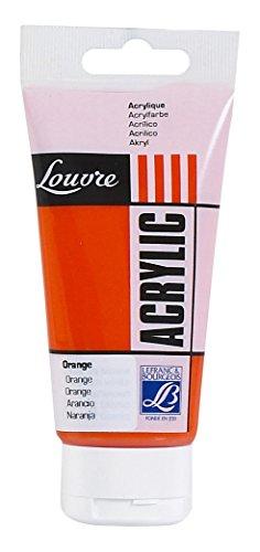 Lefranc & Bourgeois 174394 Studio Acrylfarbe Louvre - 80ml Tube, hochwertige Farbpigmenten & lichtbeständigkeit, gut mischbar - Orange
