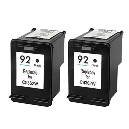 Compatible 92 93xl cartuchos de tinta reemplazo, para HP C3110 C3125 C3135 C3140 C3150 impresora 2* negro