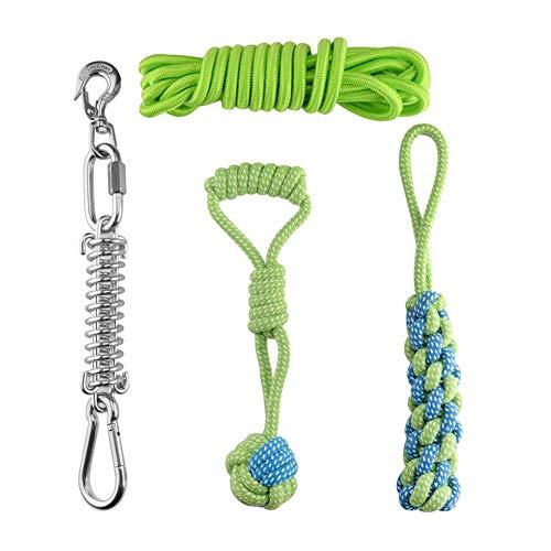 cheerfulus-1 Hunde Frühling Pole Seil Spielzeuge, Starkes Hundeseilspielzeug, hängendes Übungsseil für Haustiere Haustier Muskel Baumeister ziehen & Schlepper Spielzeug für mittlere oder große Hunde