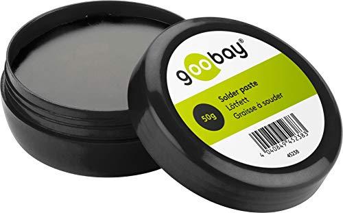 Goobay 45238 Lötpaste / Lotpaste (Solder Paste) SMD Lötfett Dose als Flussmittel zum Weichlöten zum Löten von oberflächenmontierbar Bauelemente, 50g
