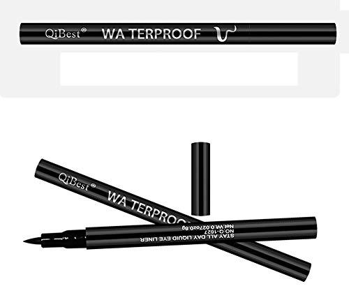 Nourich Femmes Étanche Eyeliner,Liner Noir Laqué Eyeliner liquide Smudge rapide de séchage liquide Pen Eyeliner Professionnel Longue durée Eyeliner Pen Maquillage Cosmétique (01#)