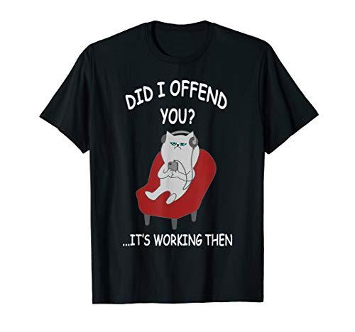 Introvert Gift For Men Women Funny Cat Lover Antisocial Meme T-Shirt