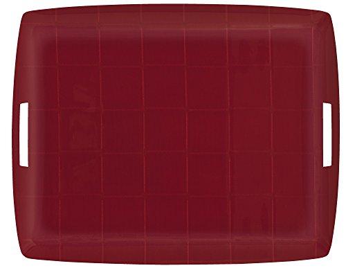 Platex 405443353 Plateau Acrylique 54 x 43 cm Isis Rouge Anses
