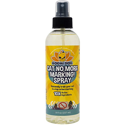 Bodhi Dog Cat No More Marking! Spray | Deters Cats from Urine Marking Indoors & Outdoors | Removes Urine Marking Odors | Safe for Indoor & Outdoor Use | Made in USA 8oz