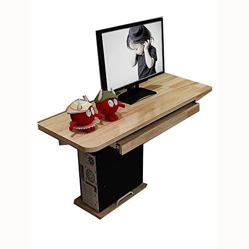 PULLEY-S 3in1Wall montado en la computadora de Escritorio Plegable Mesa de Madera, Doble Apoyo Mesita, Adecuado for el Aprendizaje del Ordenador S (Size : 80 * 40cm)