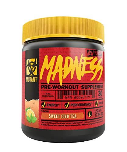 Mutant Madness – Definiert den Pre-Workout-Booster neu und bietet eine komplett neue Erfahrung!! Exklusiv für hoch intensive Workouts entwickelt Süßer Eistee (1 x 225 g)