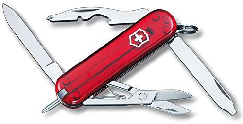 Victorinox Taschenmesser Manager (10 Funktionen, Kugelschreiber, Schere) rot transparent