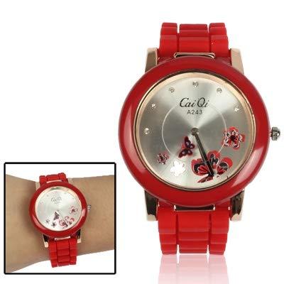 Somviersb Elegante Reloj de Pulsera de Cuarzo con Estilo de Mariposa con Diamante, con Estilo Mariposa Estilo de Cuarzo Reloj de Pulsera con dial Diamond Dial 2021 Watch con Elegante Reloj de Pulsera