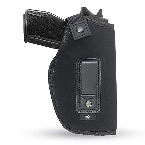 """IWB Gun Holster by PH - Concealed Carry Soft Material   Soft Interior   Fits Glock 17 21 23 25 32 38   Sig Sauer 225 226 227   Springfield XDS 4""""   Laser Gun Sight Compatible   Full Size Guns (Right)"""