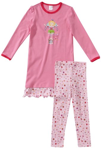 Schiesser Mädchen 1/1 + Leggings Nachthemd, Rot (599-bonbonrosa), 98
