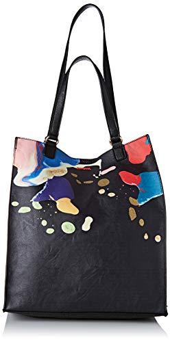 Desigual Bag Arty Cooper Colorado, Borsa a Tracolla Donna, Nero (Nero), 36x16x31 centimeters (B x H x T)