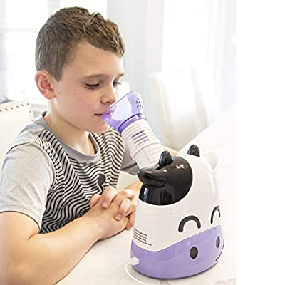 HealthSmart Humidifier and Personal Steam Inhaler for Kids Includes an Aromatherapy Tank and Facial Mask That Offers a Quick 6-9 Minute Therapy with Variable Steam Adjustment, Margo Moo