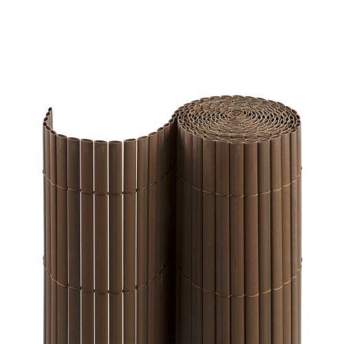 Jarolift Canniccio PVC recinzione paravista per giardino, balcone e terrazza, 80 x 300 cm, marrone | simile a RAL 8023