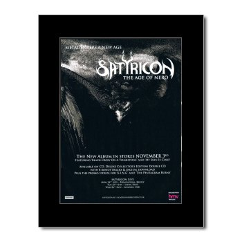 Music Ad World Satyricon Mini-Poster The Age of Nero, matt, 28,5 x 21 cm