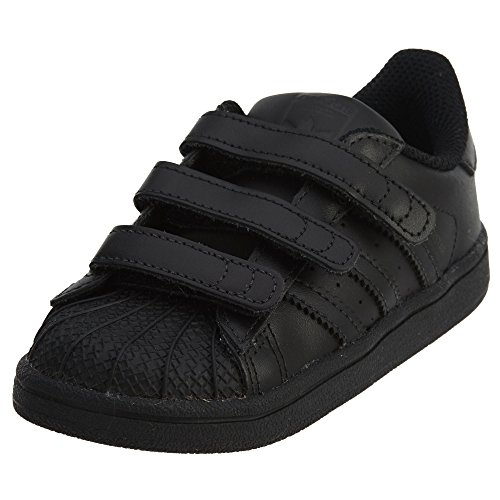 adidas Originals Baby Superstar CF I Running Shoe, core Black, 9 M US Toddler
