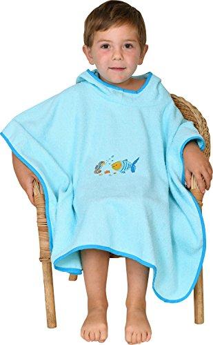 Mauz by wörner bébé poisson mint «bavoirs, serviettes de bain et gant de bain poncho, Vert menthe, Badeponcho 120x75cm