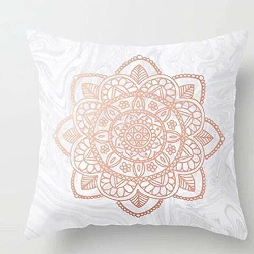 KLily Funda De Almohada Decorativa Geométrica Rosa, Funda De Almohada para La Siesta del Sofá del Dormitorio En Casa, Funda De Respaldo De Oficina Y Funda De Almohada