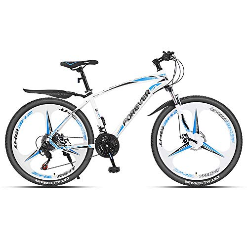 Mountain Bikes 21-Speed Lightweight Women's Bicycle Double Shock-Absorbing Off-Road Racing, Suitable for Cities Trails Mountains, 24 Inch or 26 Inch