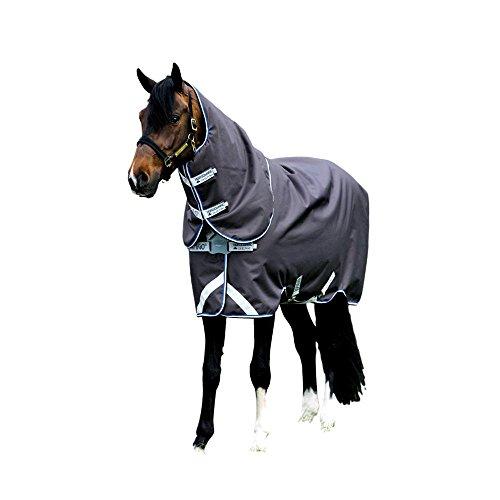 Horseware Amigo Bravo 12 plus medium mit Halsteil Disc Excalibur 3 Bauchgurte (145)