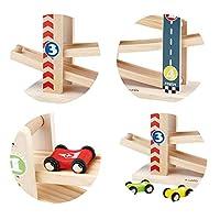 Pista per Auto in Legno,Il Primo Giocattolo da Pista in Legno per Bambini della Prima Educazione,Adatto a Ragazzi e Ragazze all'età di 1 -5Anni #2