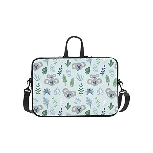 15.6″Durable Hombro Mensajero Bolsa maletín PC Koalas de patrón Infantil Moda Impermeable Ordenador Portátil/portátil/Tablets