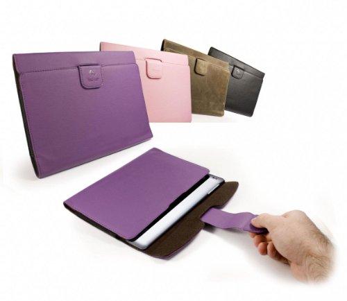 Tuff-Luv H7_24 - Funda Pull-Tab de polipiel para Sony S1 & Xperia S Tablet, color morado