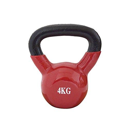 FitAndFun Peso Kettlebell Neoprene Rosso Allenamento Forza Resistenza Casa 4kg Resistenza Casa 4kg (Cod.SP5027)