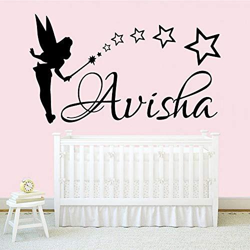 BJWQTY Name Aufkleber Abnehmbare Vinyl Wandbild Poster für Kinderzimmer Home Decoration Wandbild Vinyl Aufkleber