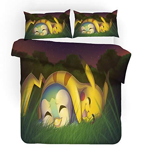 ZZALL Pokemon Pikachu - Set di biancheria da letto reversibile in microfibra (Pikachu # 11,200 x 200 cm)