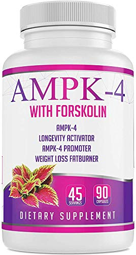 AMPK-4 Activator 90 capsules/45 Servings Boost Energy Promote Longevity Diet Weight Loss Slimmer Skinny Fatburner with Berberine and Forskolin Supports Metabolism